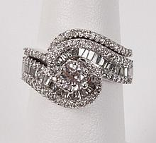 14K WHITE GOLD 2 PIECE DIAMOND WEDDING RING SET