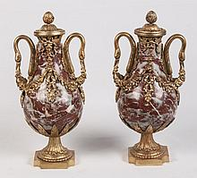 PAIR OF FRENCH MARBLE 18