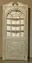 AMERICAN PAINTED CORNER CUPBOARD