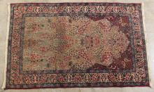 ANTIQUE PERSIAN TREE OF LIFE PRAYER RUG 4'6