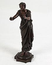 SALMSON, 19TH C. FRENCH BRONZE OF WOMAN