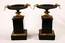 PAIR OF 19TH C. FRENCH MARBLE AND BRONZE TAZZAS