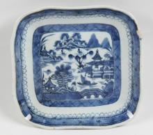 BLUE AND WHITE CANTONESE PORCELAIN BOWL