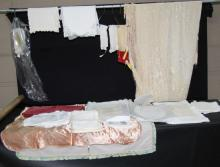 MISCELLANEOUS BOX OF FINE LACE AND LINENS