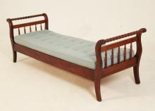 AMERICAN WALNUT SPOOL TURNED DAY BED