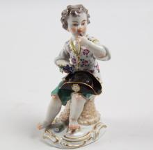 MEISSEN PORCELAIN FIGURE OF YOUNG BOY