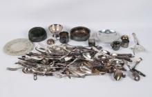 MISCELLANEOUS BOX LOT OF SILVER PLATED ITEMS