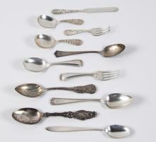 8 TROY OZS.,  11 PIECE MISCELLANEOUS LOT OF STERLING FLATWARE