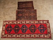 3 MISCELLANEOUS ORIENTAL RUGS