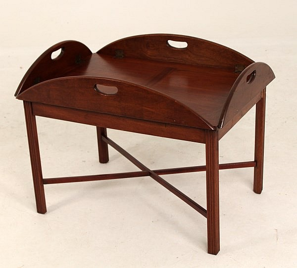 American Mahogany Butler 39 S Tray Top Coffee Table At 1stdibs Georgian Mahogany Butler 39 S