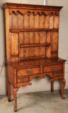 QUEEN ANNE STYLE LIGHT FRUITWOOD WELSH DRESSER