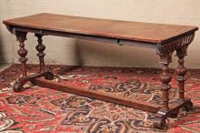 19TH C. FRENCH CARVED OAK CONSOLE TABLE
