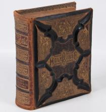 LARGE LEATHER BOUND ILLUSTRATED BIBLE