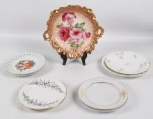 9 PIECE MISCELLANEOUS LOT OF PORCELAIN PLATES