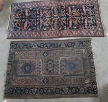 2 ANTIQUE SCATTER RUGS