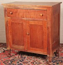 EARLY AMERICAN ONE DRAWER CHERRY PRESS