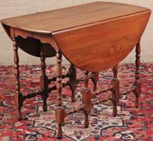 CHERRY EXTENDING DROP LEAF DINING TABLE