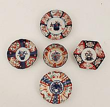 5 PIECE MISCELLANEOUS LOT OF ANTIQUE IMARI PORCELAIN