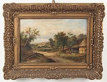 JOSEPH THORS, 19TH C. OIL ON CANVAS LANDSCAPE PAINTING