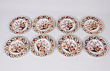 SET OF 8 EARLY DERBY PLATES