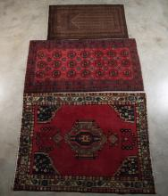 3 MISCELLANEOUS PERSIAN THROW RUGS