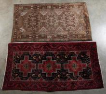 2 MISCELLANEOUS PERSIAN THROW RUGS