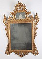 FINE 18TH C. FRENCH CARVED AND WATER GILT GOLD LEAF MIRROR