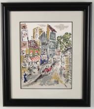 MISCELLANEOUS LOT OF 4 PIECES OF FRAMED ART