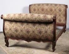LOUIS XV STYLE CARVED WALNUT DAY BED