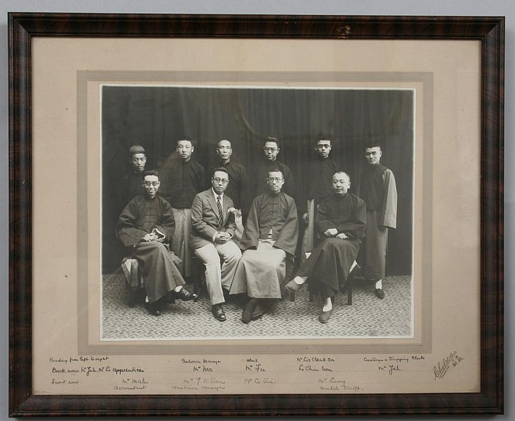 Chelsea's Photo Portrait of Jeh Li and Chinese Trade Associates