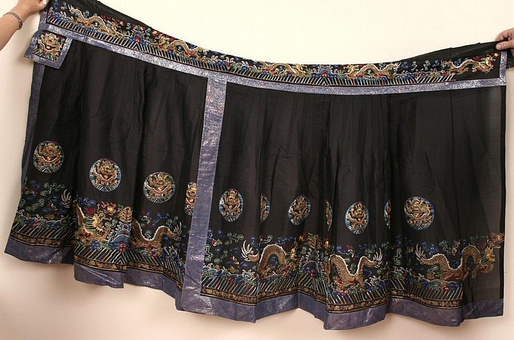 Antique Chinese Embroidered Skirt