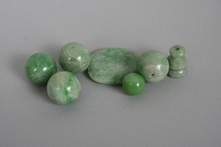 Group of Antique Jade Beads