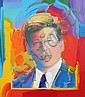 Peter Max Mixed Media Painting of Tim Durham