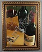 T. Stevenson Acrylic Painting of Wine Bottles