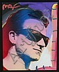 Peter Max Mixed Media on Canvas Painting of Bono