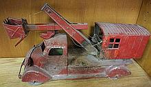 4. Antique Metal Toy Digging Vehicle