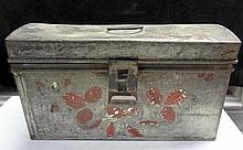 10. Decorated Tin Box with Latch