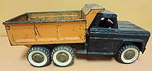 40. Vintage Metal Toy Dump Truck