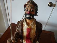 VINTAGE EMMETT KELLY HOBO CLOWN W/ BALLOONS BY RON LEE FIGURINE SCULPURE