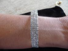 4 CARAT DIAMOND ENCRUSTED SOLID 14K WHITE GOLD BRACELET