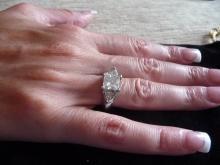 GIA CERTIFIED 2.19 CARAT DIAMOND PLATINUM ENAGEMENT RING