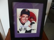 TED WILLIAMS, RED SOX GREAT PERSONALLY AUTOGRAPHED PICTURE