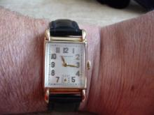 I.W.C. / TIFFANY & CO MEN'S SOLID 14K WATCH FROM THE 1940'S