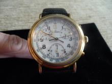 MEN'S MOVADO 14K STAINLESS STEEL CHRONOGRAPH WATCH