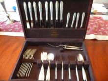 STERLING SILVER FLATWARE SET FOR 8 WITH CHEST-NOS