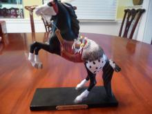 LIMITED EDITION COLLECTIBLE INDIAN PONIES STATUETTE