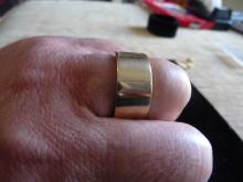 MAN'S SOLID 14K YELLOW GOLD WEDDING BAND RING-16.6 GRAMS