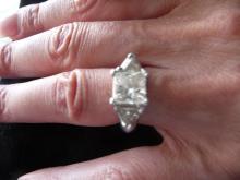 GIA CERTIFIED 2.19 CARAT DIAMOND PLATINUM ENGAGEMENT RING