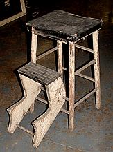 Painted Kitchen Stool Step Ladder