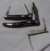 3 Vintage Pocket Knives